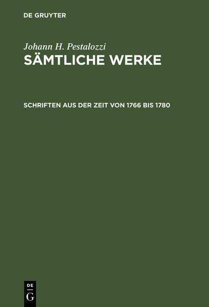 Sämtliche Werke / Schriften aus der Zeit von 1766 bis 1780 - Coverbild