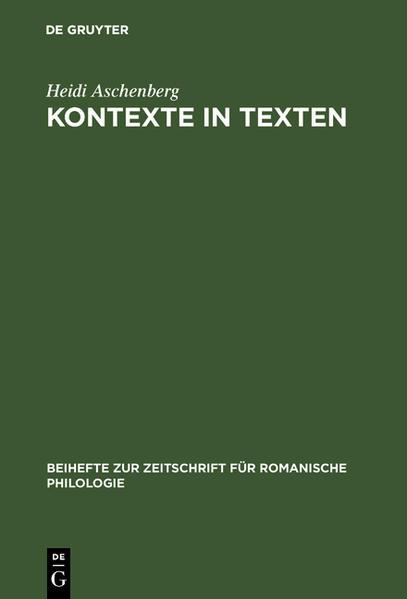 Kontexte in Texten - Coverbild