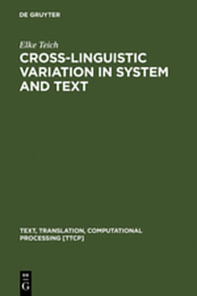 Cross-Linguistic Variation in System and Text - Coverbild