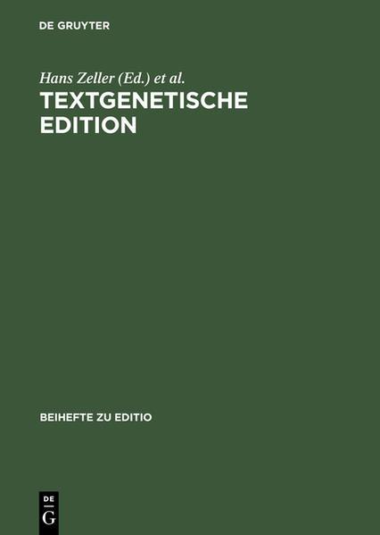 Textgenetische Edition - Coverbild