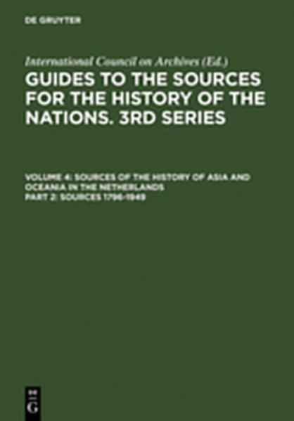 Guides to the Sources for the History of the Nations. 3rd Series.... / Sources 1796-1949 - Coverbild