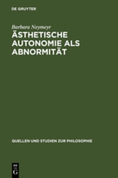 Ästhetische Autonomie als Abnormität - Coverbild