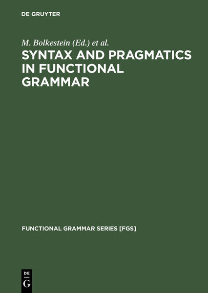Syntax and Pragmatics in Functional Grammar - Coverbild