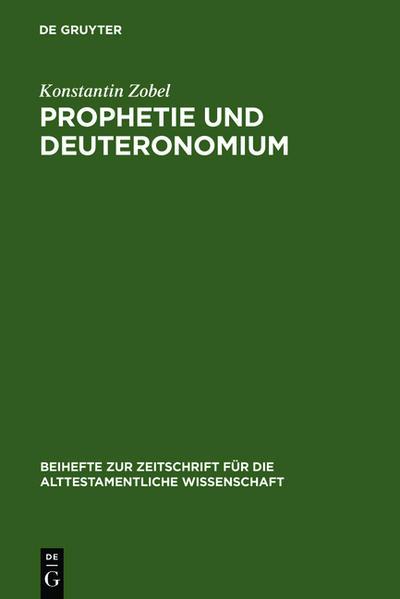Prophetie und Deuteronomium - Coverbild