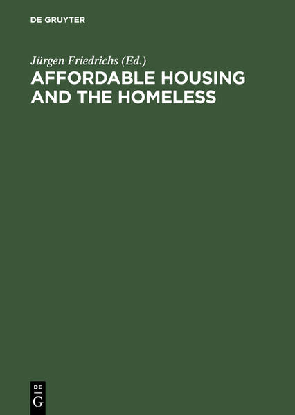 Affordable Housing and the Homeless - Coverbild