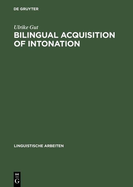 Bilingual Acquisition of Intonation - Coverbild
