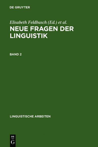 Neue Fragen der Linguistik - Coverbild