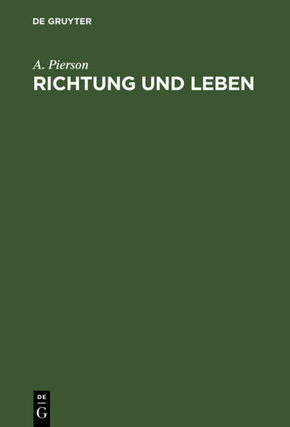 Richtung und Leben - Coverbild