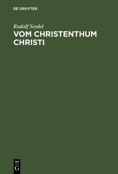Vom Christenthum Christi - Coverbild