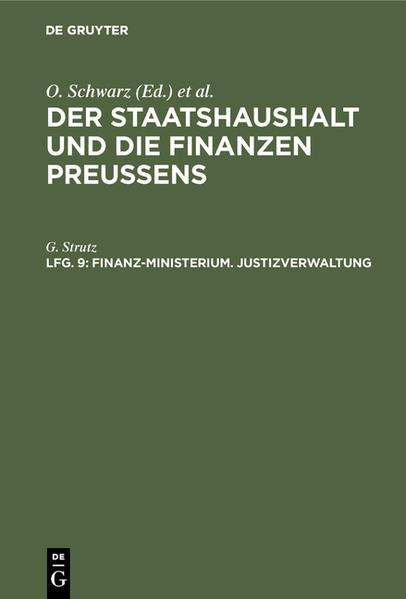 Finanz-Ministerium - Coverbild