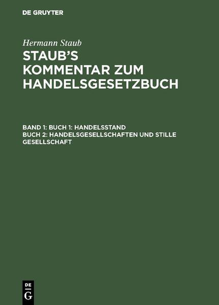 Handelsstand, Handelsgesellschaften und stille Gesellschaft - Coverbild