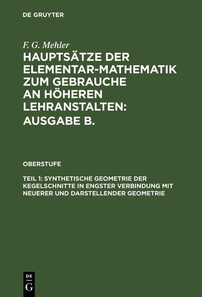Hauptsätze der Elementar-Mathematik zum Gebrauche an höheren Lehranstalten - Coverbild
