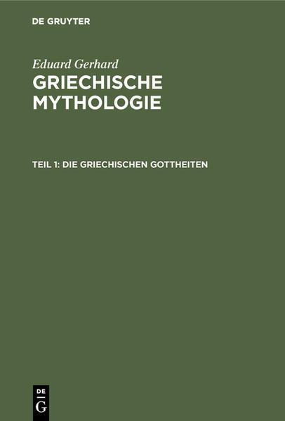 Die griechischen Gottheiten - Coverbild