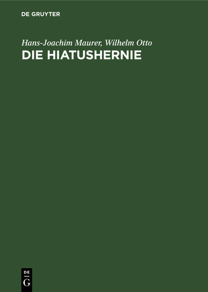 Die Hiatushernie - Coverbild