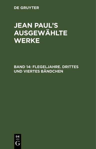 Jean Paul's ausgewählte Werke - Coverbild