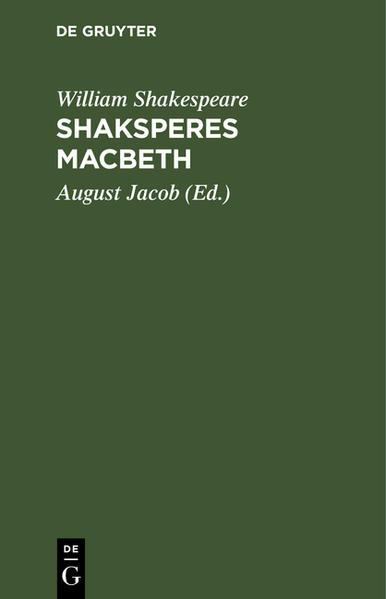 Shaksperes Macbeth - Coverbild
