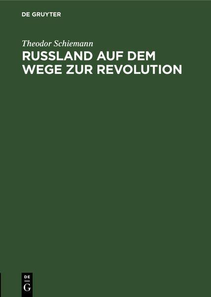 Russland auf dem Wege zur Revolution - Coverbild