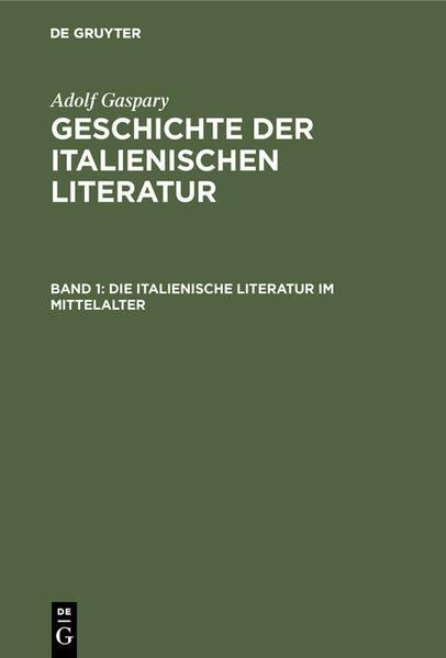 Die italienische Literatur im Mittelalter - Coverbild