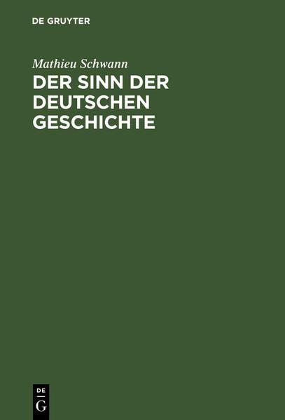 Der Sinn der deutschen Geschichte - Coverbild