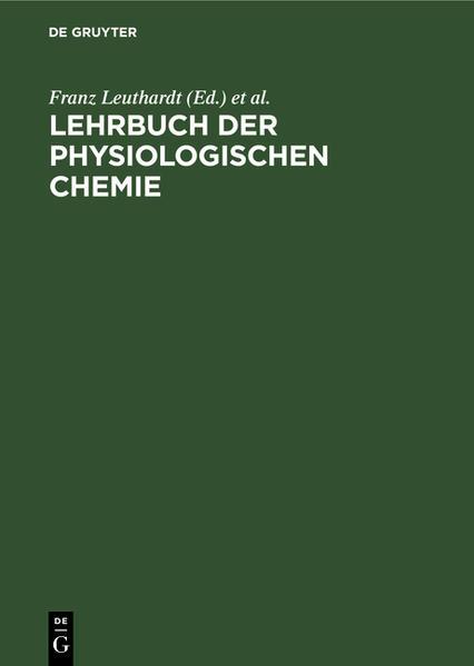 Lehrbuch der physiologischen Chemie - Coverbild