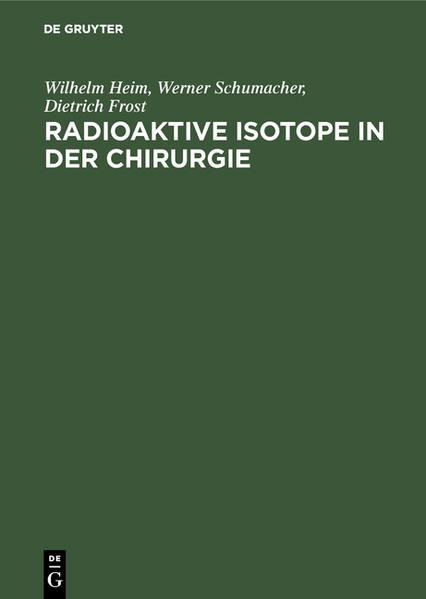 Radioaktive Isotope in der Chirurgie - Coverbild