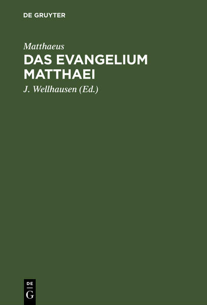 Das Evangelium Matthaei - Coverbild