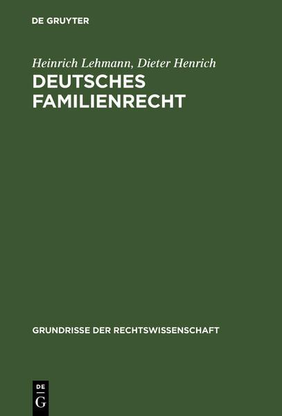 Deutsches Familienrecht - Coverbild