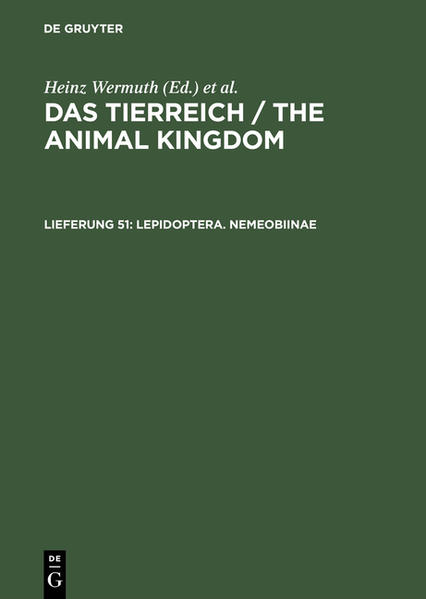 Das Tierreich / The Animal Kingdom / Lepidoptera. Nemeobiinae - Coverbild