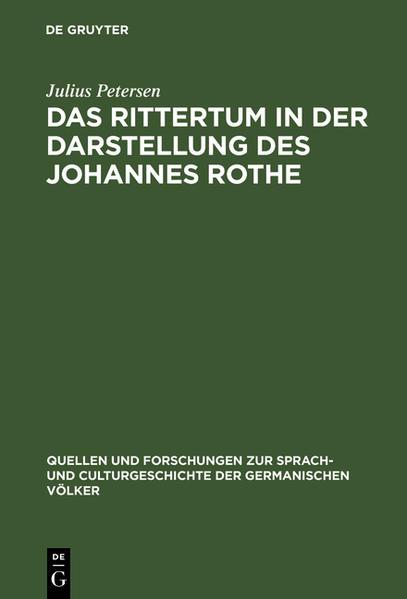 Das Rittertum in der Darstellung des Johannes Rothe - Coverbild