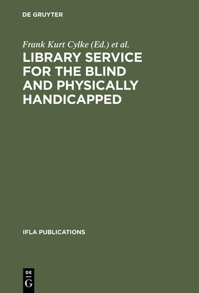 Library service for the blind and physically handicapped - Coverbild
