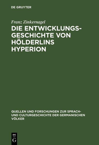 Die Entwicklungsgeschichte von Hölderlins Hyperion - Coverbild
