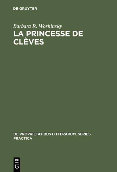 La princesse de Clèves - Coverbild
