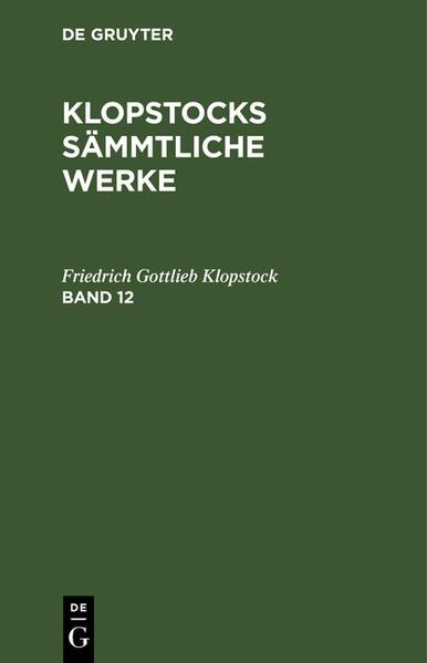 [Sämmtliche Werke] Klopstocks sämmtliche Werke - Coverbild