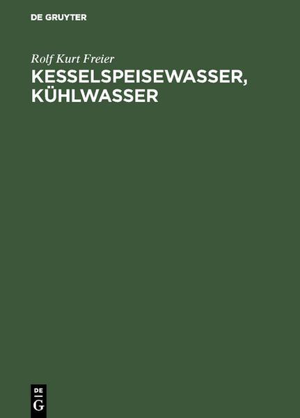 Kesselspeisewasser, Kühlwasser - Coverbild