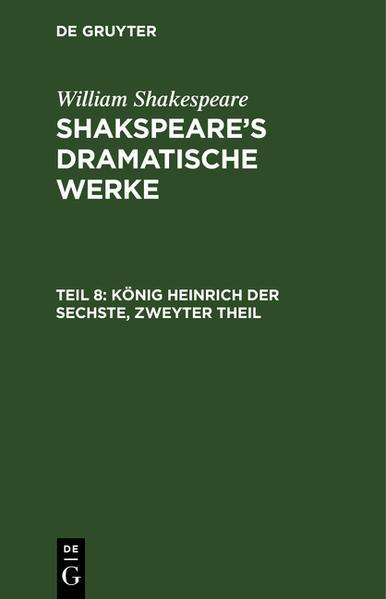 [Dramatische Werke] Shakspear's dramatische Werke - Coverbild