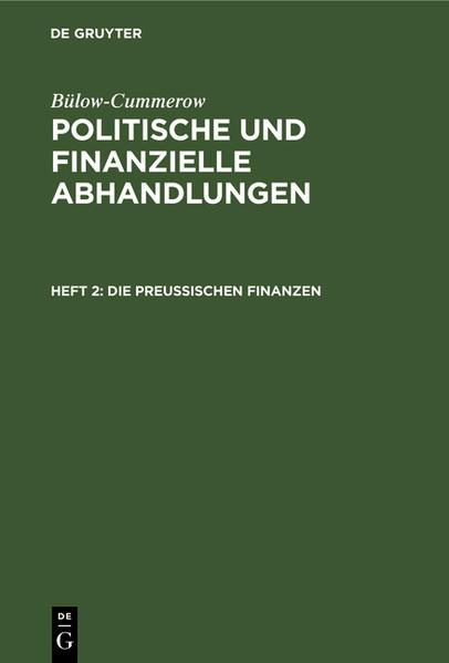 Die preußischen Finanzen - Coverbild