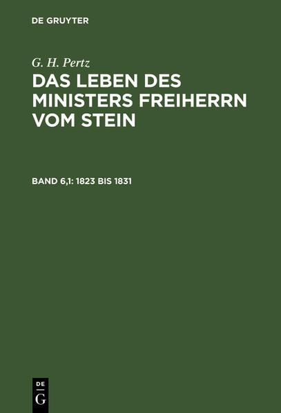1823 bis 1831 - Coverbild