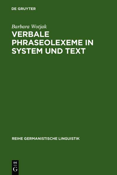 Verbale Phraseolexeme in System und Text - Coverbild