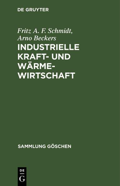 Industrielle Kraft- und Wärmewirtschaft - Coverbild