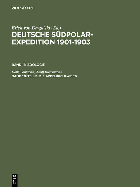Die Appendicularien der deutschen Südpolar-Expedition 1901-1903 - Coverbild