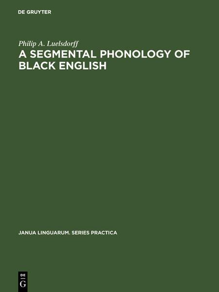 A segmental phonology of Sack English - Coverbild
