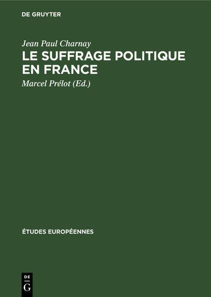 Le suffrage politique en France - Coverbild