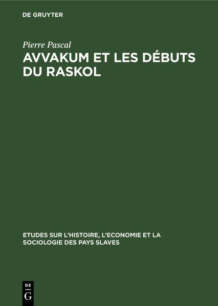 Avvakum et les débuts du raskol - Coverbild