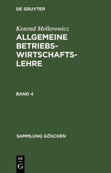 Allgemeine Betriebswirtschaftslehre - Coverbild