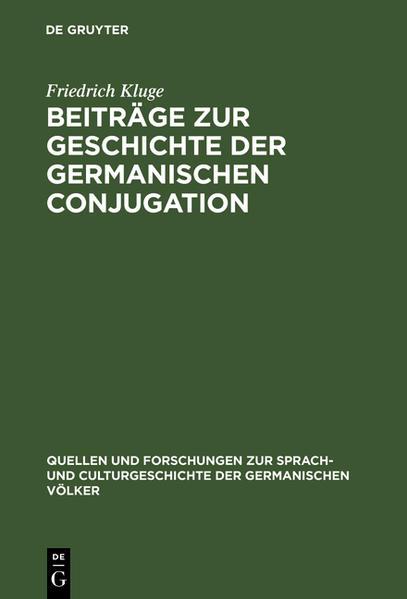 Beiträge zur Geschichte der germanischen Conjugation - Coverbild