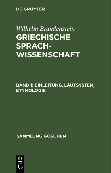 Einleitung, Lautsystem, Etymologie - Coverbild