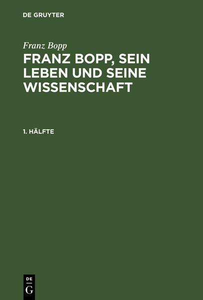 Franz Bopp, sein Leben und seine Wissenschaft - Coverbild