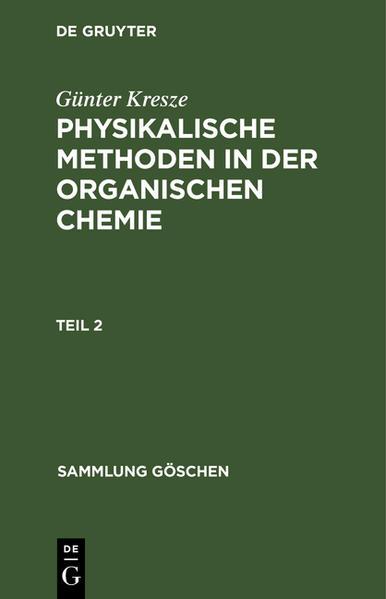 Physikalische Methoden in der organischen Chemie - Coverbild