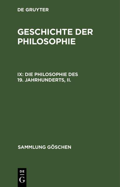 Geschichte der Philosophie - Coverbild