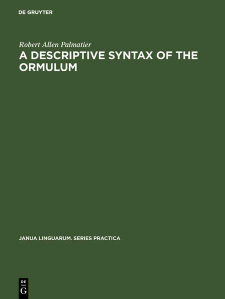A descriptive syntax of the Ormulum - Coverbild